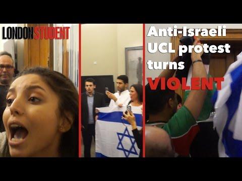 Anti-Israeli Protest Turns Violent At UCL's Hen Mazzig Talk | London Student