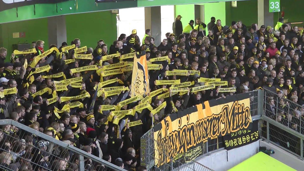 VfL Wolfsburg - BVB 0-3 Stimmung vor dem Spiel Borussia Dortmund 29.01.2011