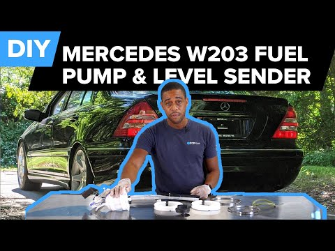 Mercedes C230 Fuel Filter Level Sender Replacement and Fuel Pump Removal DIY (Mercedes W203)