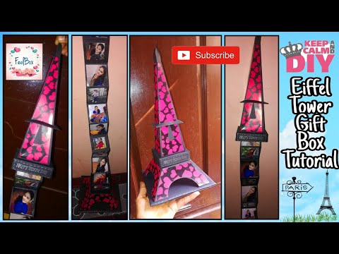 Eiffel Tower Gift Box tutorial | How to make Eiffel Tower | Eiffel tower with Hidden Box