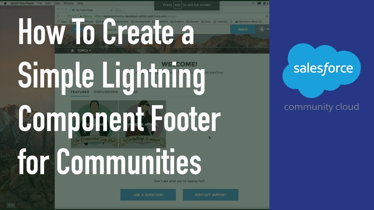 How To Create a Simple Lightning Component Footer for Communities