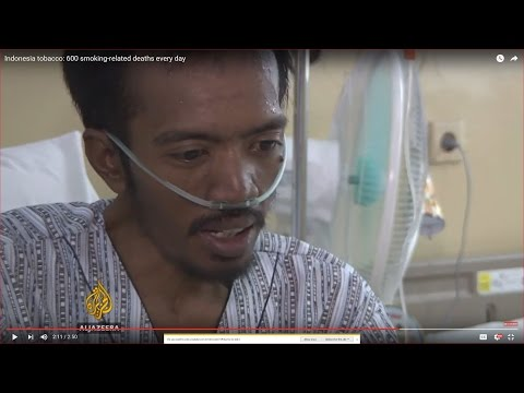 Indonesia tobacco: 600 smoking-related deaths every day