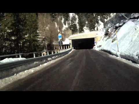 Italy, Vermiglio - Passo del Tonale, road S.S. 42 / SS42
