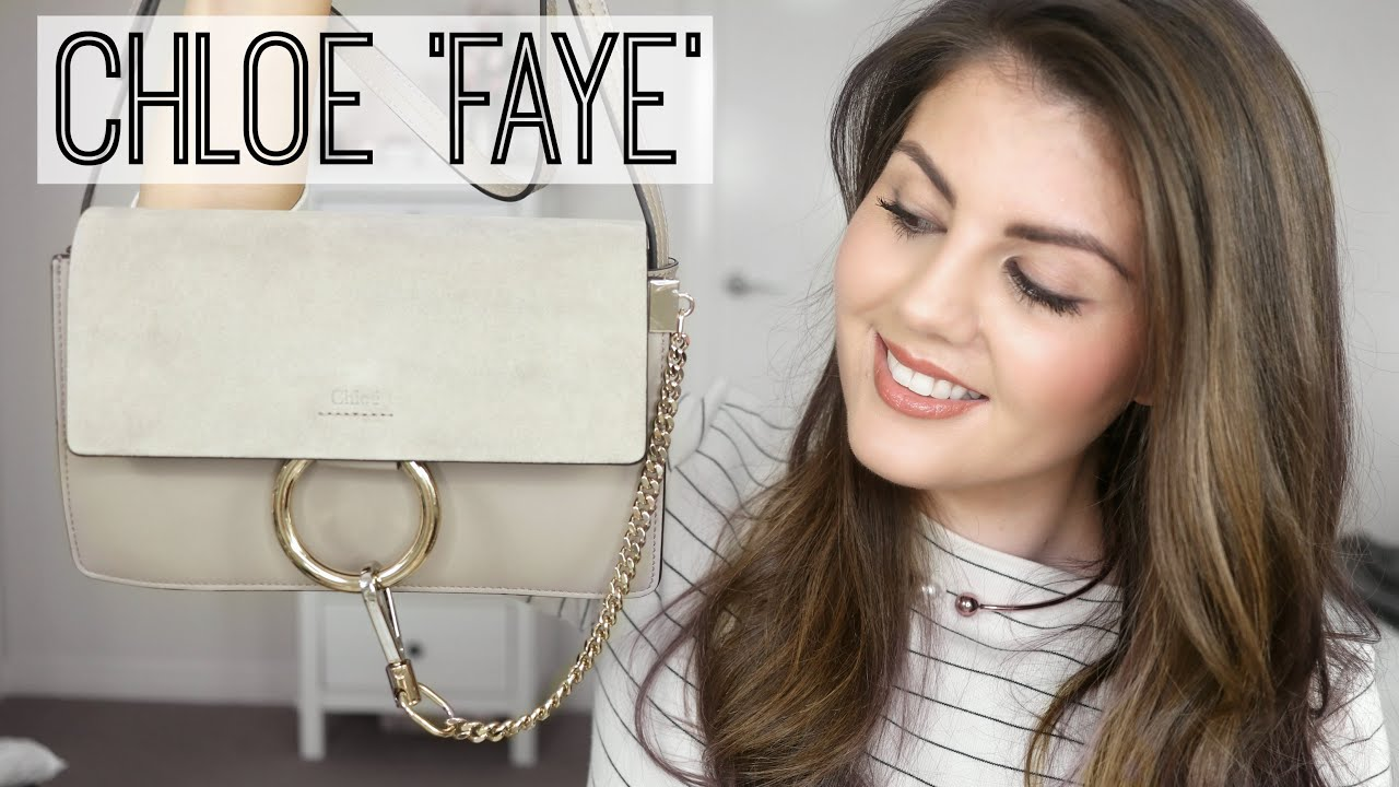 unboxing my chloe 39 faye 39 small handbag rachael jade youtube. Black Bedroom Furniture Sets. Home Design Ideas