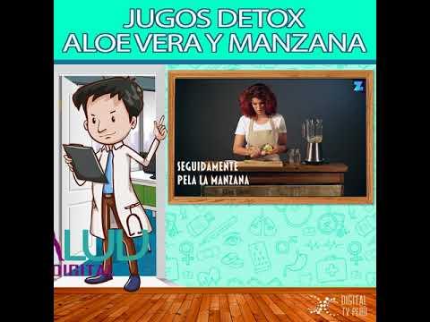 JUGOS DETOX: ALOE VERA Y MANZANA