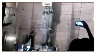وزير الاثار يزيح الستار عن رمسيس الثاني بمعبد الأقصر (فيديو)
