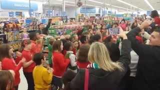 Flash Mob Signing and Singing at Walmart