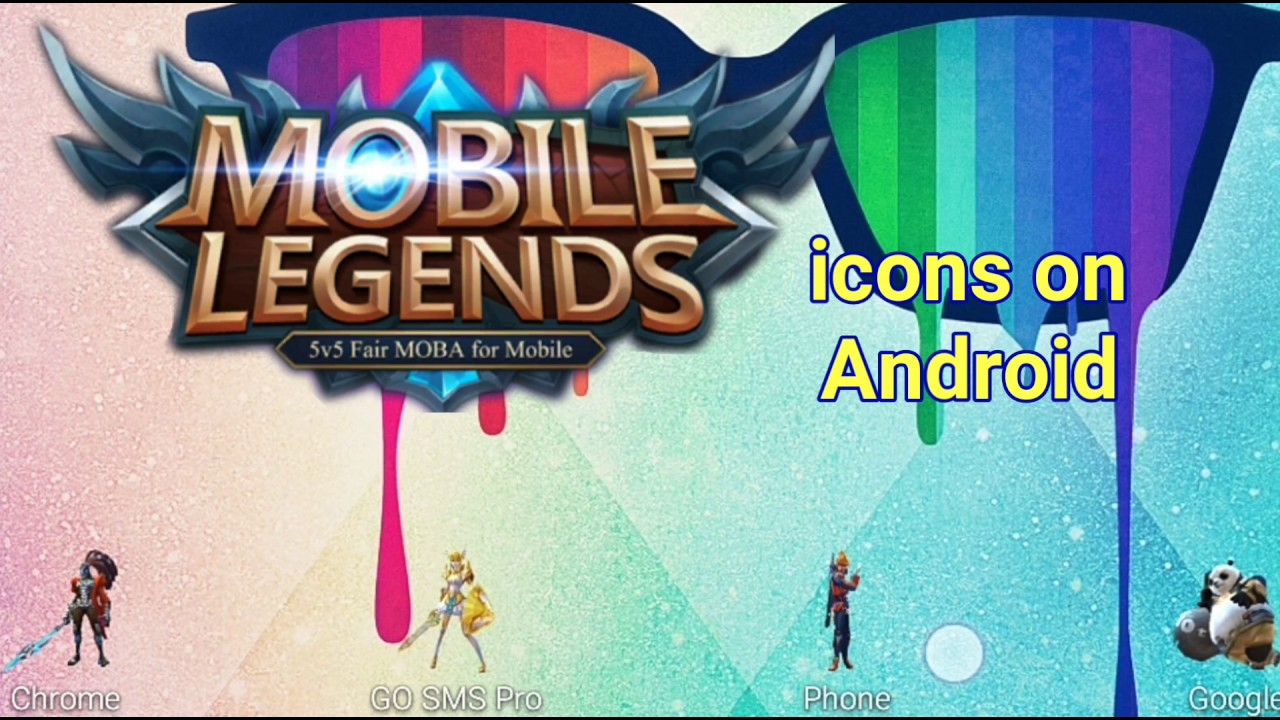 Mobile Legends Characters as Icons on Your Android Phone Tutorial