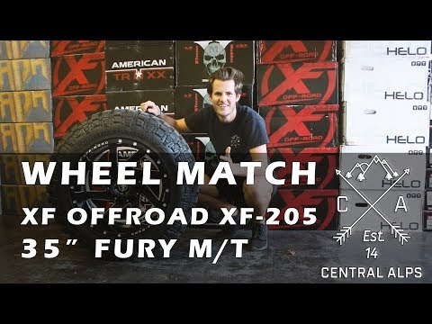 "Wheel Match - XF Offroad 205 & 35"" Fury M/T"