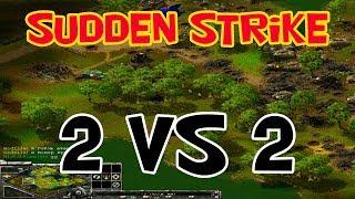 Sudden Strike Forever multiplayer battle 2 vs 2. WW2 strategy games
