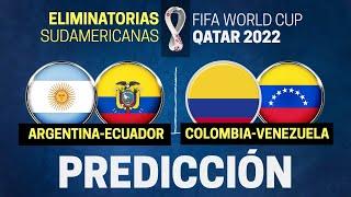 🌎 Eliminatorias Sudamericanas 2020 | ARGENTINA vs ECUADOR •• COLOMBIA vs VENEZUELA | Predicciones