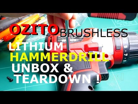 Ozito Brushless HammerDrill Teardown