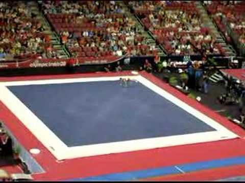 Morgan hamm floor exercise men 39 s gymnastic trial prelim for Floor gymnastics