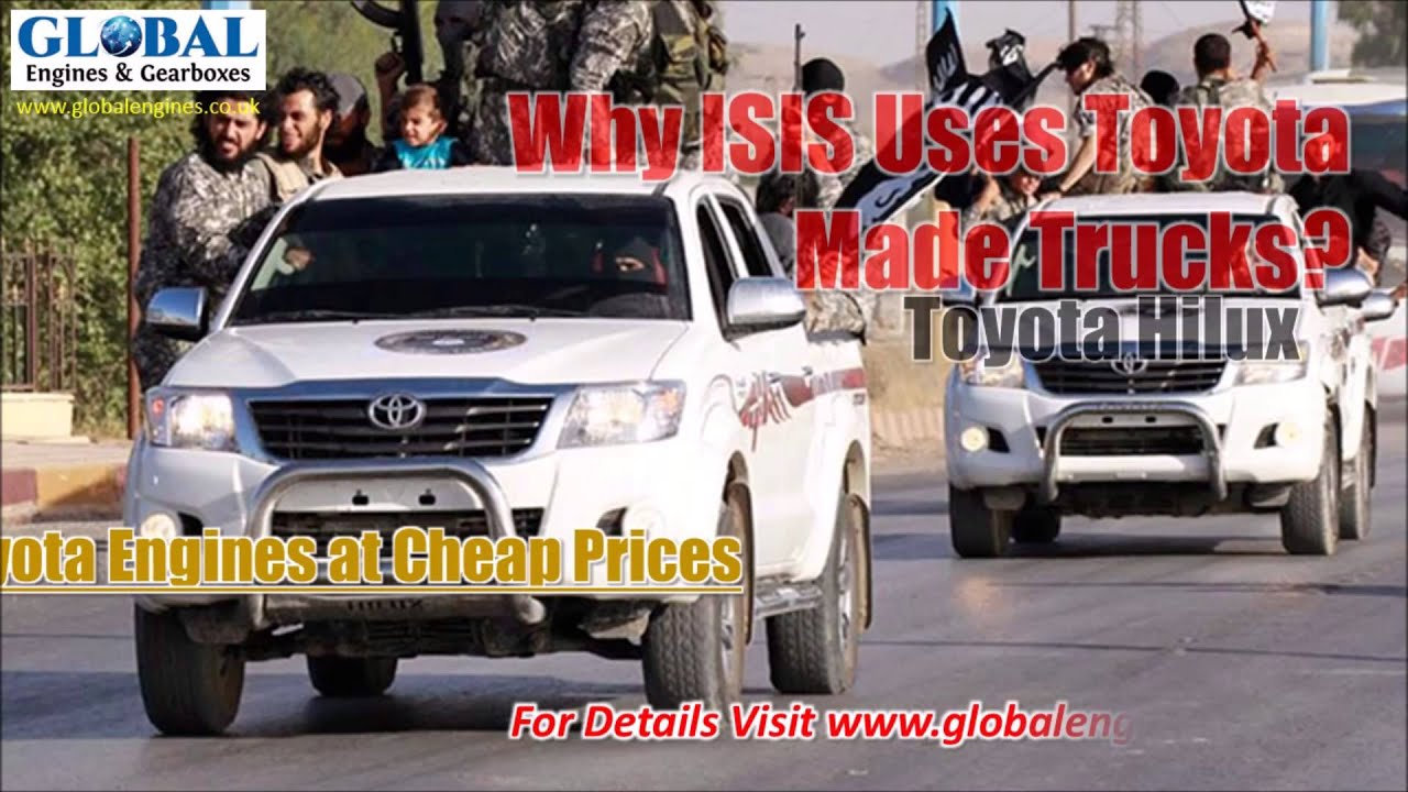 why isis uses toyota made trucks youtube. Black Bedroom Furniture Sets. Home Design Ideas