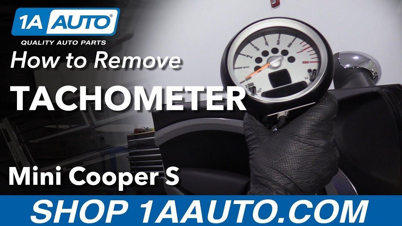 How to Remove Tachometer 07-13 Mini Cooper S