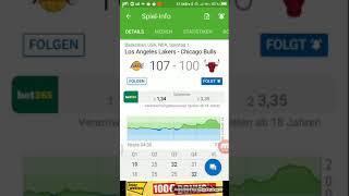 Basketball Los Angeles Lakers gegen Chicago Bulls 107:100