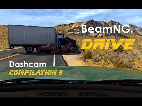 BeamNG. Drive - Dashcam Crashes Compilation 9 [Real Voices]