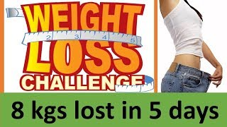 SUCCESS!! LOST 8 KGS IN 5 DAYS || NO EXERCISE, NO DIET || FAST WEIGHT LOSS || INCREASE METABOLISM