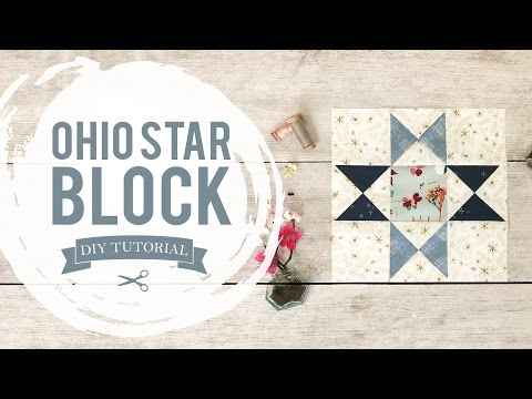 AGF Quilt Block Collection: Ohio Star Quilt Block Tutorial
