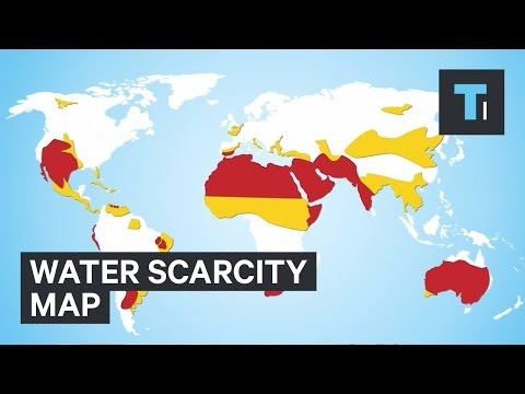 Water scarcity map