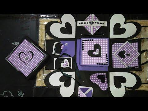 double Explosion box /gift box/ Gift box for Rakshabathan /Friendship Day/diy (mrin art)