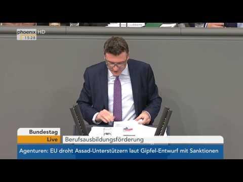 Bundestag: Debatte zur Berufsausbildungsförderung am 20.10.2016