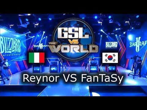 Fantasy VS Reynor - TEAM Serral VS TEAM Dark - GSL vs the World 2019 - polski komentarz