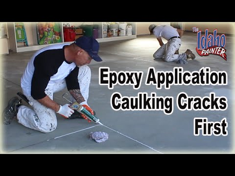 Epoxy Floor Hacks Epoxy Floor Caulking Before Application