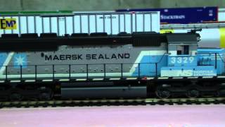 Custom Weathered Athearn RTR SD40-2 NS #3329 with Tsunami Sound and LED Lighting