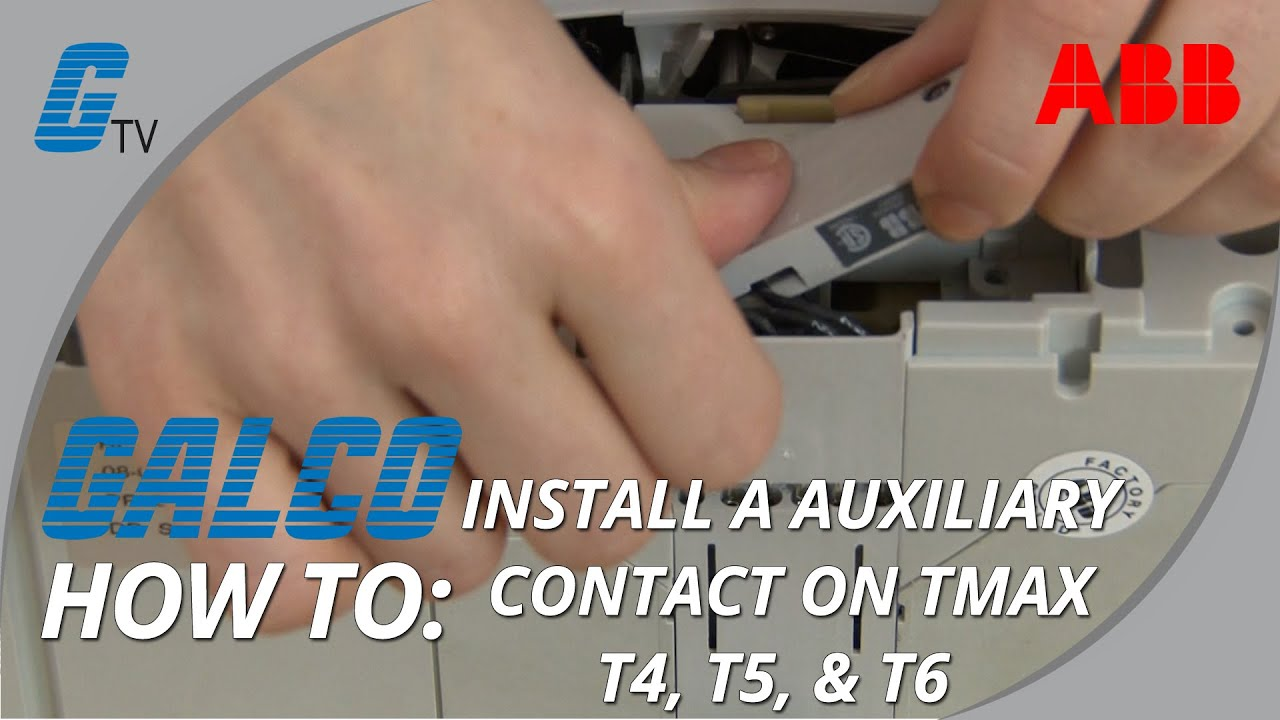 Installing An Auxiliary Contact In Abb T Max T4 T5 And T6 How Does A Shunt Trip Relay Work Answerscom Enclosed Circuit Breaker
