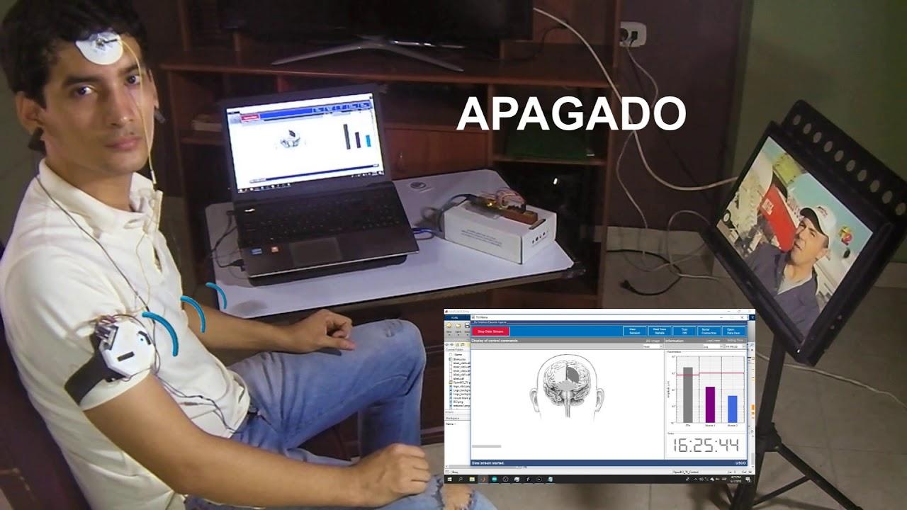 Sistema de control remoto de TV a través de señales bioeléctricas [OpenBCI  + MATLAB + Arduino]
