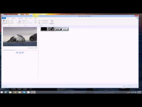 Windows Movie Maker 2 - Insert photo/video but keep audio the same.