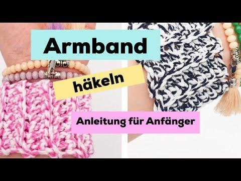 armband h keln einfache h kelanleitung f r anf nger youtube. Black Bedroom Furniture Sets. Home Design Ideas