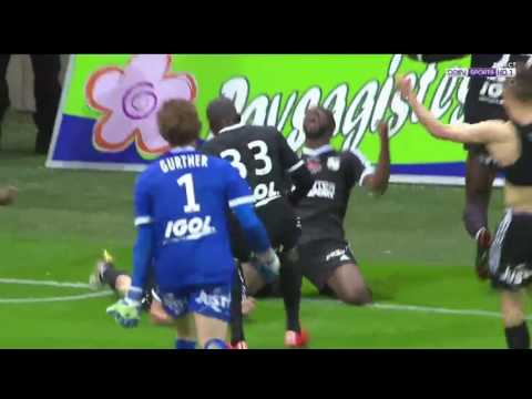 Amiens player bourgaud score winning goal vs reims 1-2 and promoting amiens to ligue 1
