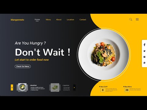 How To Make A Responsive Restaurant Website Design Using HTML And CSS Step By Step Tutorial