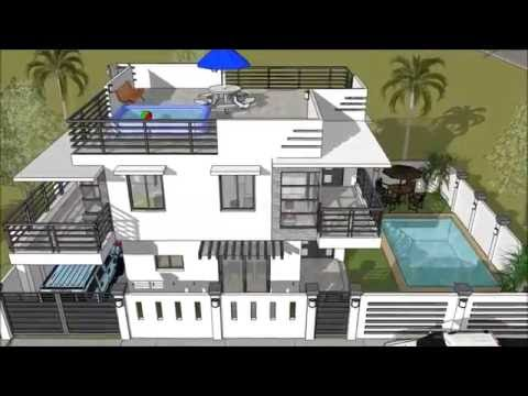 Modern 2 Storey House with Roofdeck & Swimming Pool