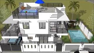 Modern 2 Storey House With Roofdeck Swimming Pool Youtube