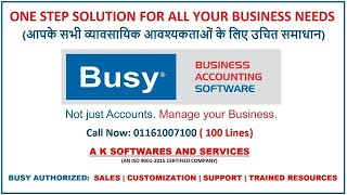 Busy Accounting Software : Day-1