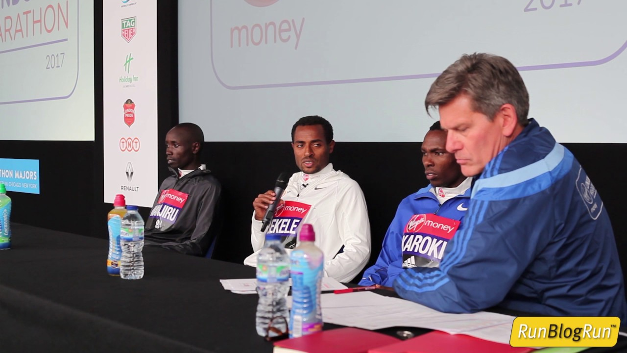 2017 London Marathon Post Race Press Conference - Men's Top 3