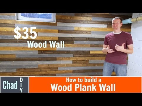 $35 DIY Wood Plank Wall