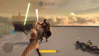 Battling Vader & Greedo as Obi Wan ;) - Star Wars Battlefront 3 Gameplay