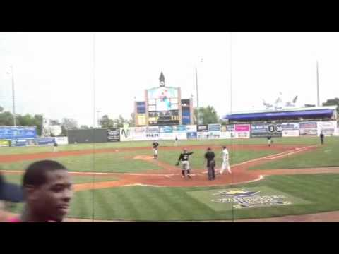 Home run at the Lexington Legends game