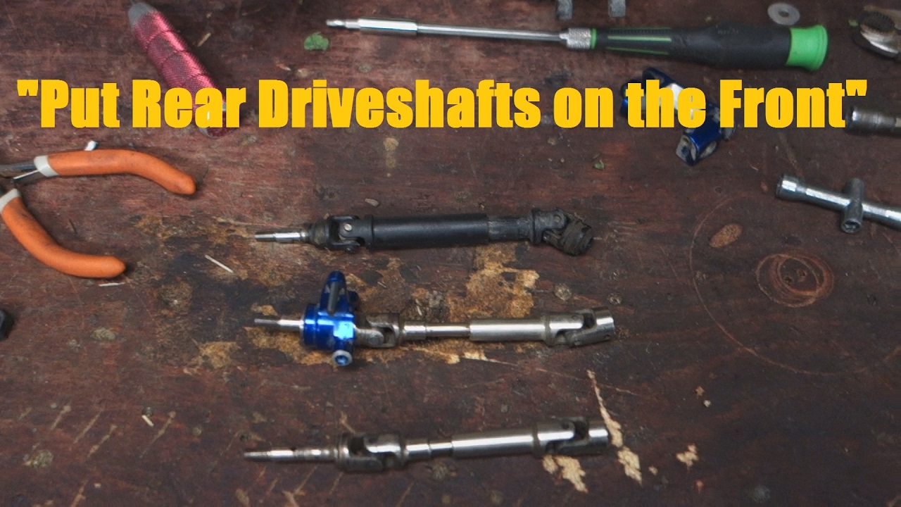 Super Duty Front /& REAR driveshafts//Drive-Shafts Traxxas 1//10 Rally VXL