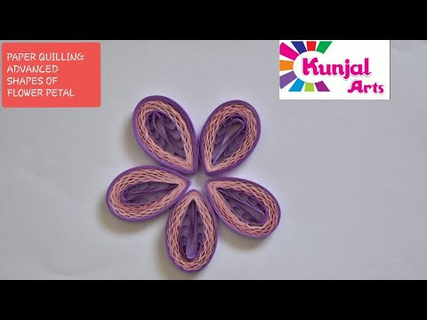 PAPER QUILLING FLOWER PETAL / ADVANCE QUILLING/ CREATIVE / DIY / QUILLING DESIGN