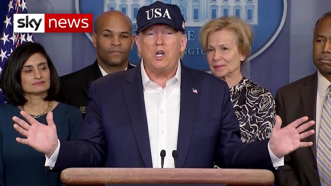 Donald Trump says he took test for coronavirus