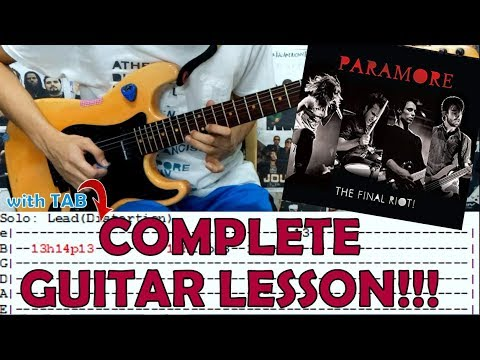 Decode Paramorecomplete Guitar Lessoncoverwith Chords And Tab