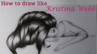 How to draw like Kristina Webb | Cute girl sleeping drawing | #Prachi Gajjar