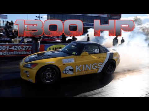 1300HP Honda S2000 bangin' gears!! 8.1@171mph !!