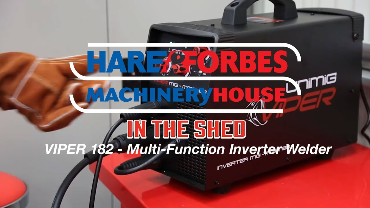 VIPER 182 - Multi Function Inverter Welder MIG MMA (W244) - In The Shed