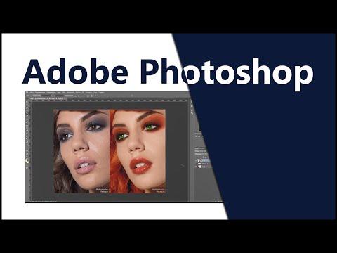 Ретушь Photoshop. Частотное разложение. Макияж Фотошоп